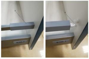 Выравнивать фасад на кухонном выдвижном ящике с рейлингами