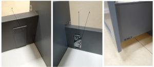 Выравнивание фасада на кухонном ящике легран